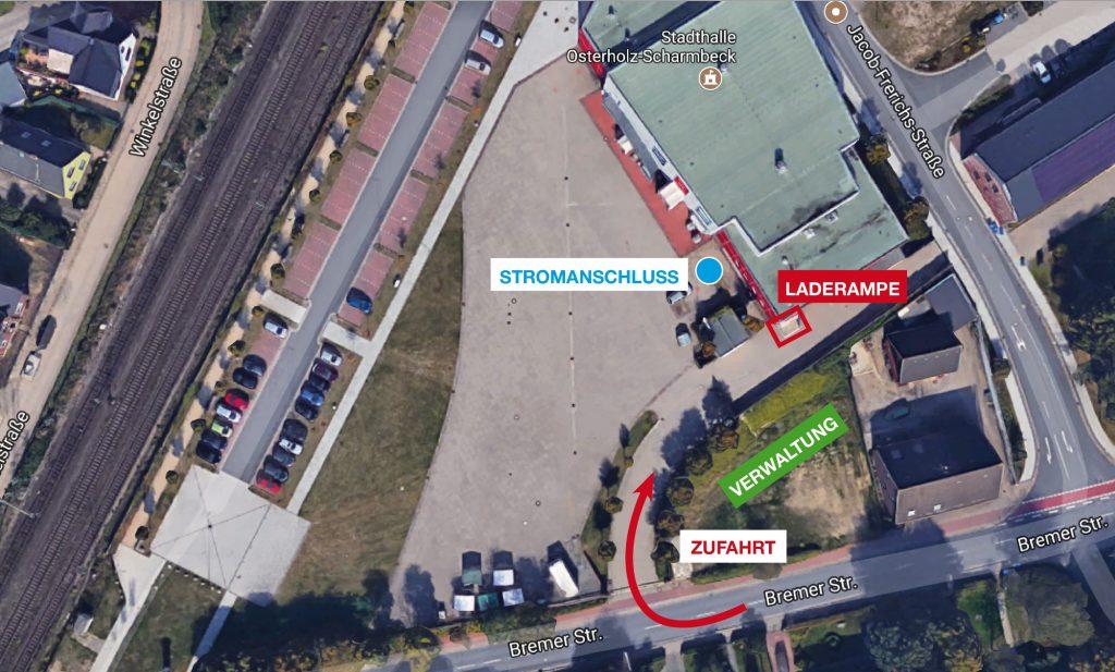Lageplan Stadthalle OHZ